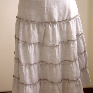Pastel cake skirt (powder blue)