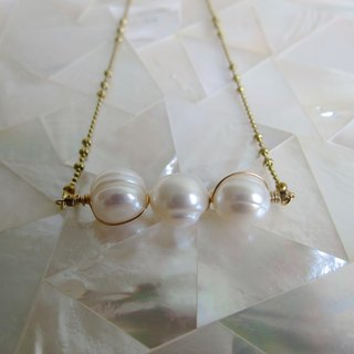 ∴Minertés = three simple brass pearl necklace = ∴