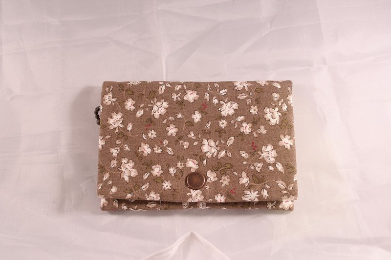 Multilevel purse - brown happy Floral