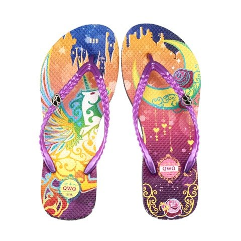 QWQ Creative Design Flip-flops - Magic Night - Purple [FA0141503]