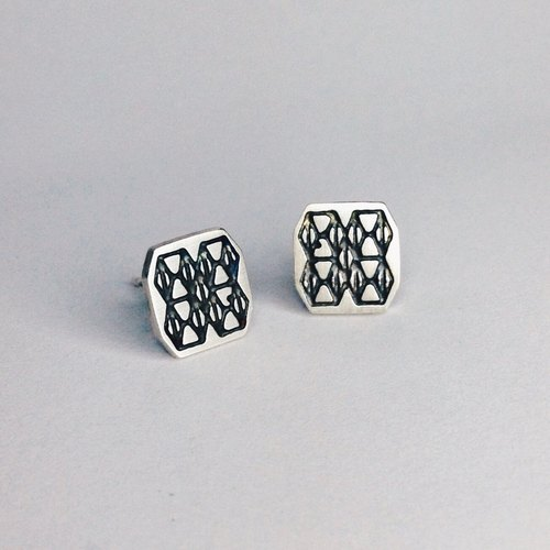 Mosaic Line 06  925Silver Earring pin