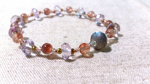 crystal in dearsharka || dotdot. X strawberry pink amethyst crystal x labradorite