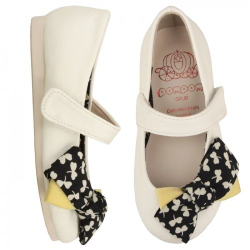 WITH FREE GIFT – SPUR Clover ribbon kid flats 16012 IVORY(Cannot be exchanged)