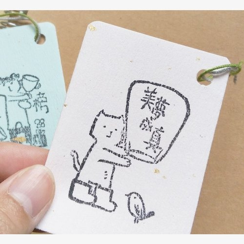 / Puputraga / plus purchase ~ no separate sales ~ meow language handprint bookmarks / send peace letter