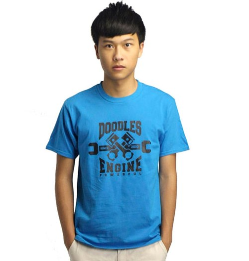 20% coupon Doodles stylish pattern cotton l Engine boys, blue T-shirt