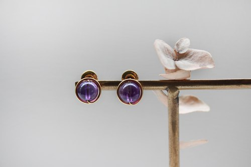 【Amethyst】classic earring (Customizable clip-on)