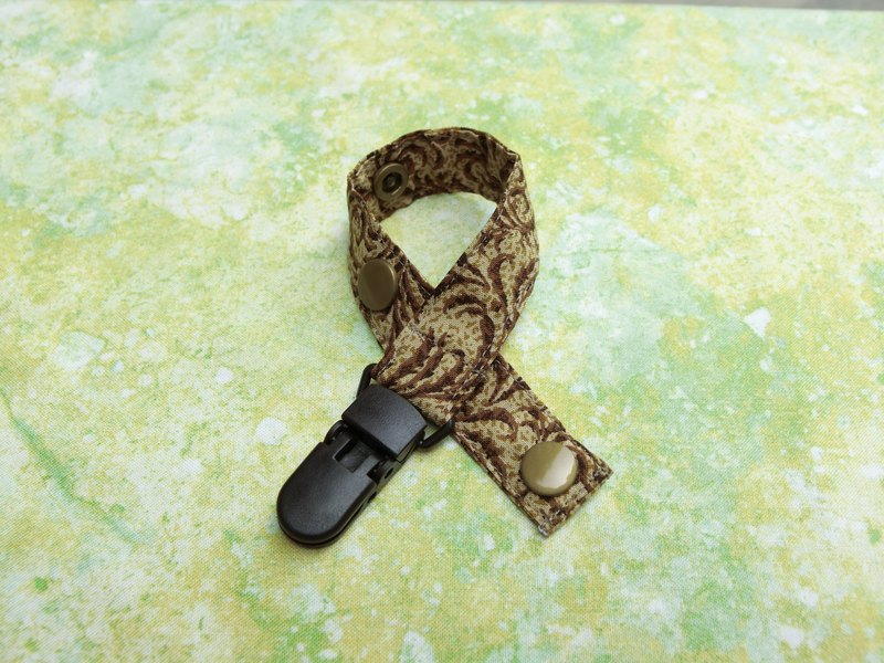Brown vine - clip type pacifier chain / toy belt