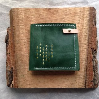 Forest green wallet _ hand-stitched vegetable tanned leather