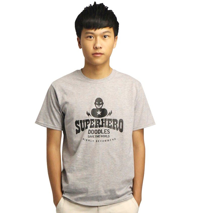 20% coupon Doodles boys hemp gray T-shirt, Cool Edition Super Hero