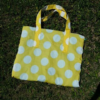 Cheese bubbles. Picnic mat bag