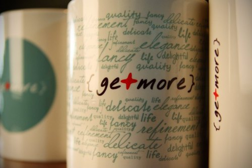 getmore mug design good life subsection (Word Cup)