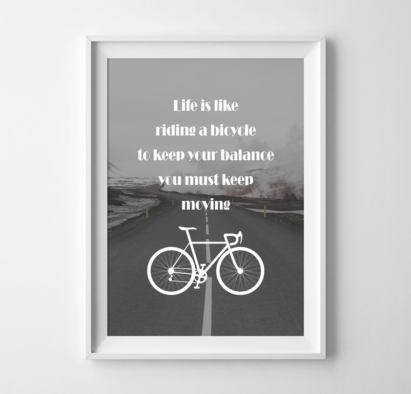 riding a bicycle (1) Customizable Hanging Poster