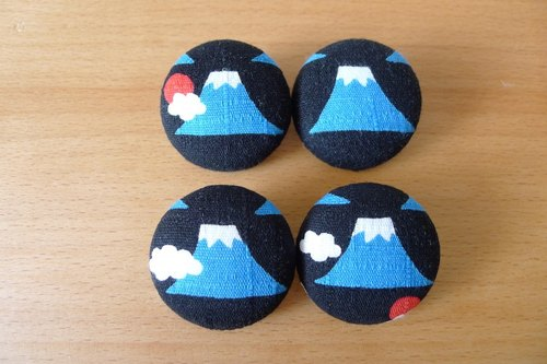 ✎ cloth badge / badge / pin / brooch | Mount Fuji | Combination