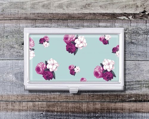 Flower illustration - business card holder ︱ office workers necessary accessories ︱ office supplies gift ︱ promotion gifts