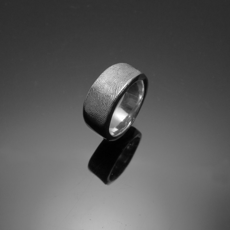 ReShi / classic fingerprint ring (female) / ring / 925 sterling silver / fingerprint silver / custom handmade / Valentine's family gifts