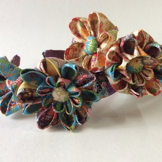 Kanzashi fabric flower headband hair accessories