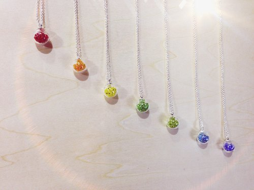 *Haku‧Neko*Rainbow glass ball necklace