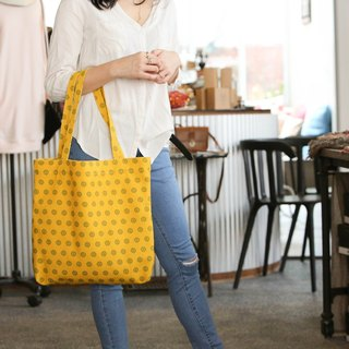 ENZOO cornflower yellow shopping bag
