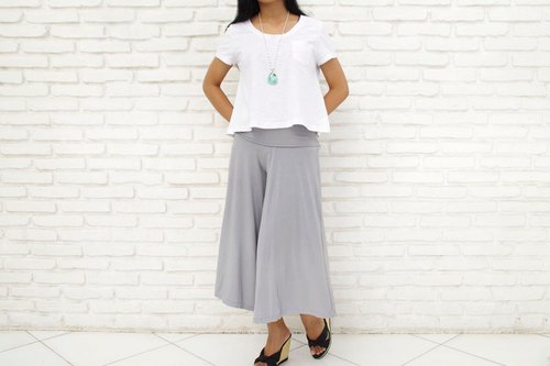 Relax wide flared pants <gray>