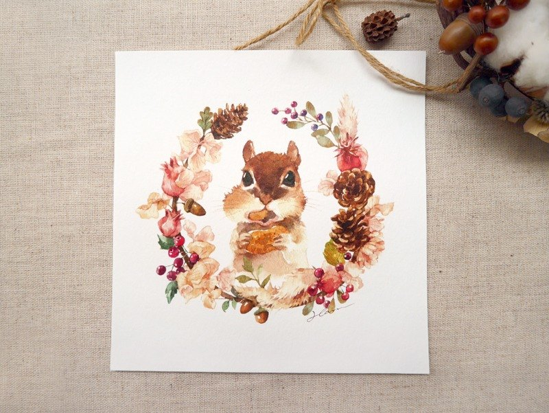 {Atelier Hanu} Chipmunk Drawing cards
