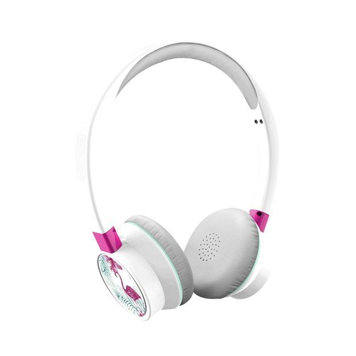 """BRIGHT"" customized wired headset Summer Family: flamingoes and azaleas"