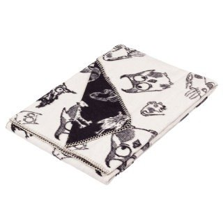 Fabulous Goose Super Soft Brushed Cotton Blanket Monster Series - Owl (Black)