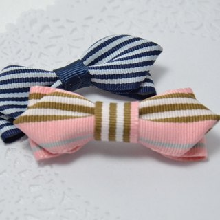 Striped navy wind bow