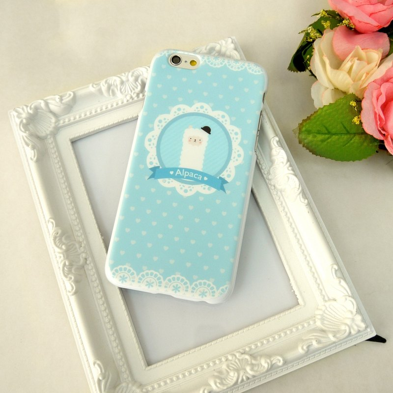 Mr. Alpaca Baby Blue Print Soft / Hard Case for iPhone X,  iPhone 8,  iPhone 8 Plus, iPhone 7 case, iPhone 7 Plus case, iPhone 6/6S, iPhone 6/6S Plus, Samsung Galaxy Note 7 case, Note 5 case, S7 Edge case, S7 case