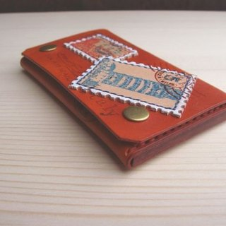 [ISSIS] [go to travel] travel stamp handmade leather business card holder - (2)