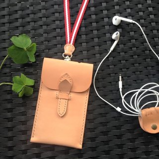 <Gift Set> York Apple phone bags iphone6 ​​+ x taste webbing straps xGS primary hub _ tanned cow leather (Limited Special Offer)