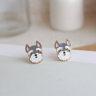 Schnauzer Earrings