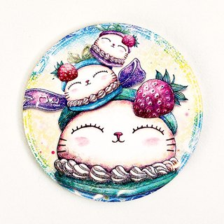Good meow kawaii ka wa い い ~ ♥ hand-painted ceramic absorbent coasters cat Daifuku