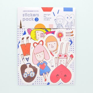 Cute Girl / Medium Sticker Set 2-3