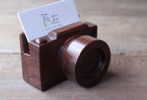 Handmade wooden miniature camera | business card note // convenience seat