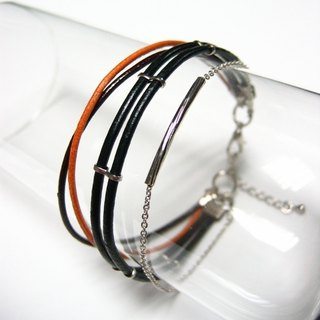 Double Track - Fine Leather Bracelet - Hand Bracelet