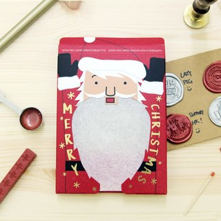 Sparkler Christmas Card - Santa Claus on fire