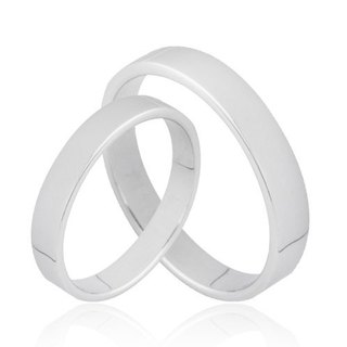 Minimalist fashion Silver Ring (Plane section / ring width 3.2mm)