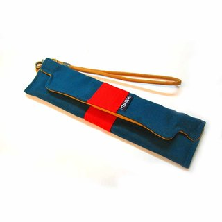 WaWu Pencil box (blue-green velvet)