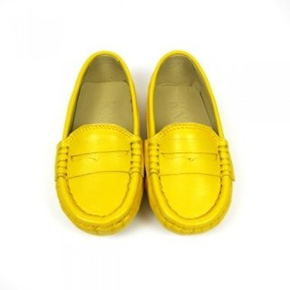 Fort Tony Wang leather handmade shoes kids [sheep / bean bottom / yolk]