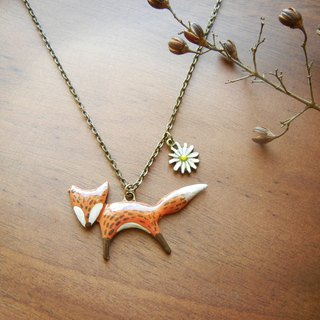 *coucoubird*hand-painted models small fox necklace