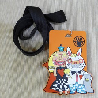 The Queen of Hearts and the Rabbit‧ticket clip card holder (Alice in wonderland)