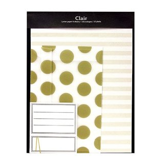 [Japanese] Letter Set LABCLIP series Clair stationery set / gold