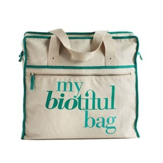 法國my biotiful bag有機棉Weekend Bag-Green