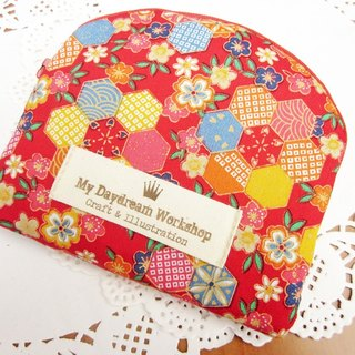 My Daydream Worksho Tian Yuanqing new small floral shell type zipper storage bag