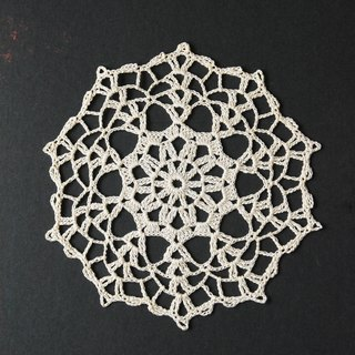 German antique lace knitting D mat / placemat / decorative mat