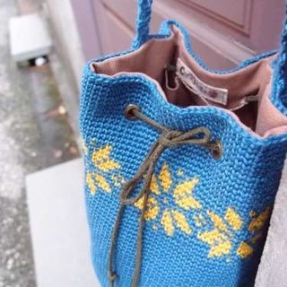 Snow totem beam port barrel bag shoulder bag hand-woven ramie water