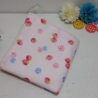 Strawberry delicious double gauze handkerchief towel bibs absorbent towel