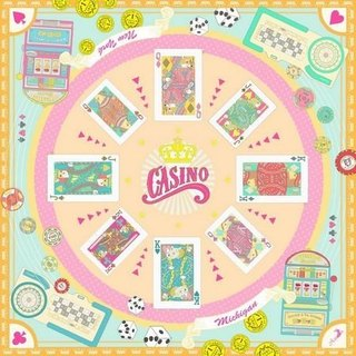 Asama designer scarf / Dicey Casino Royale (orange sky)
