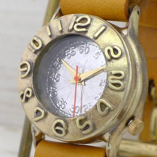 "Handmade watch HandCraftWatch ""Index1-B"" Mens Brass BK [64B]"