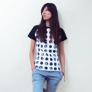 [Followwear] Well Spotted engraved T-shirt white male / female